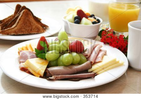 Breakfast Series  Deli Meats And Fruit