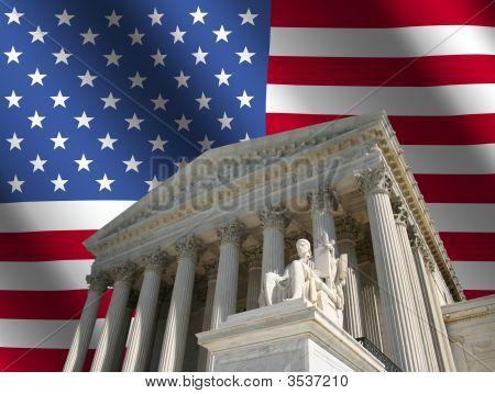 Corte Suprema con bandera