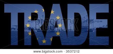 Trade Text With Eu Flag
