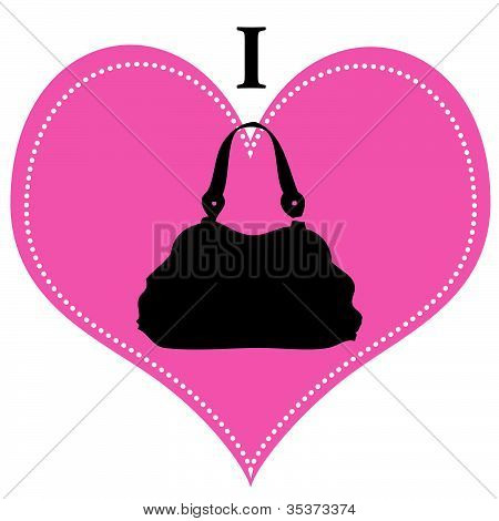 I love Purses Vector