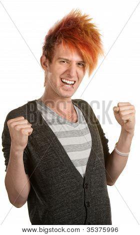 Cheering Teen With Mohawk