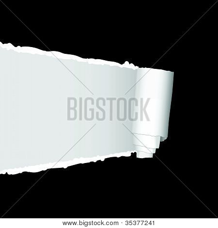 Tearing Paper Vector Illustration