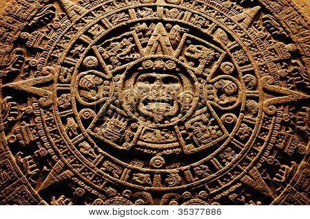 Azteken-Stein-Kalender