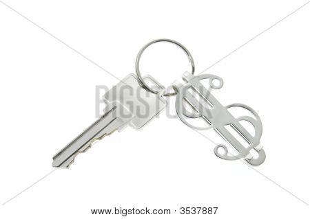 Schlüsselanhänger mit Dollarsymbol