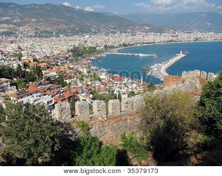 View of Alanya and Harbour
