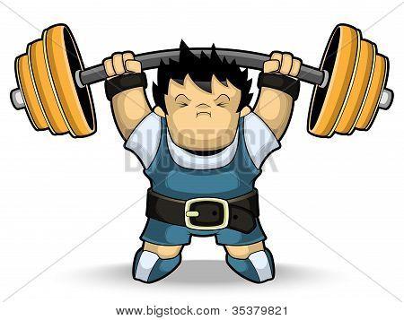Athlete weightlifter