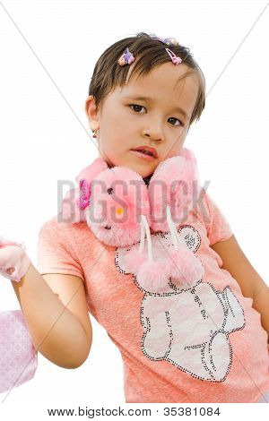 Portrait Of A Little Girl In Pink