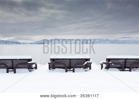Benches In Winter