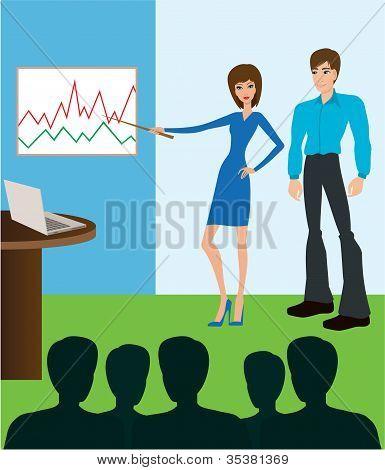 Reunião de negócios. Apresentação