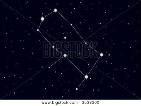 "Vector Illustration Of Constellation ""Gemini"""