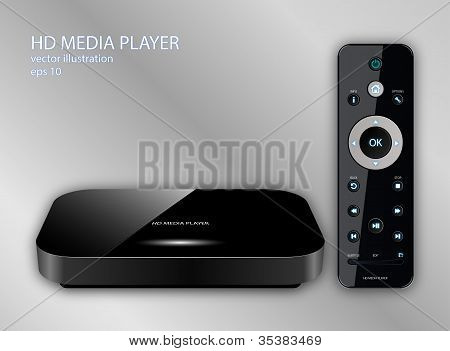 Hd Media Player, Vector Illustration