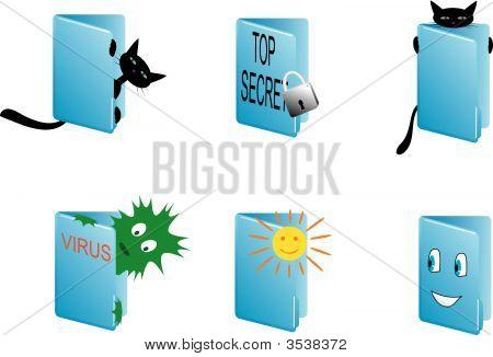 Conjunto de iconos de Vector para oficina