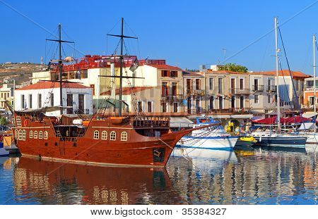 Rethymno city at Crete island