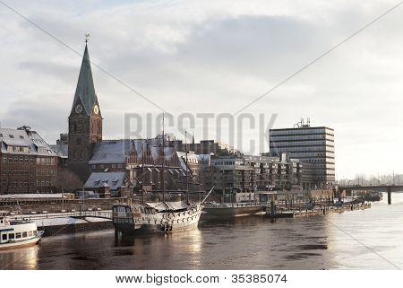 Sunset On Weser