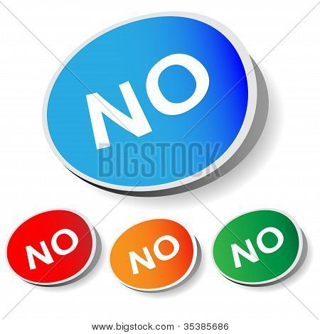"Sticker ""No"""