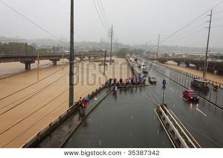 Flood in Manila, Philippines