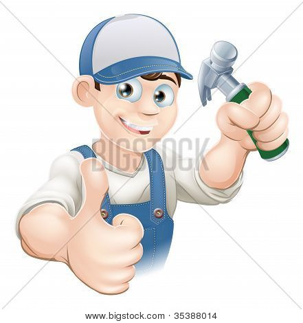 Thumbs Up Carpenter Or Builder