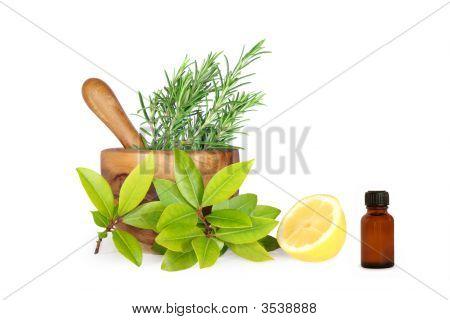 Herbs And Lemon Ingredients