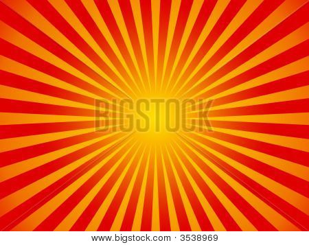 Hot Summer Sun Background