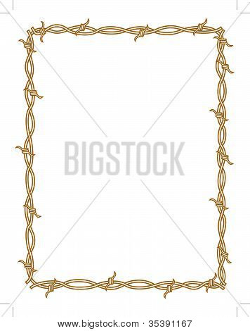 Barbed Wire Border Rectangle Clip Art