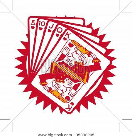 Mão de Poker Royal Flush Clip-Art