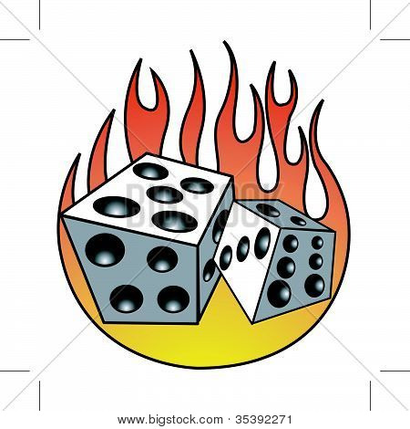 Dice And Flames