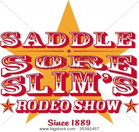 Western Rodeo Sign Or T-Shirt Design