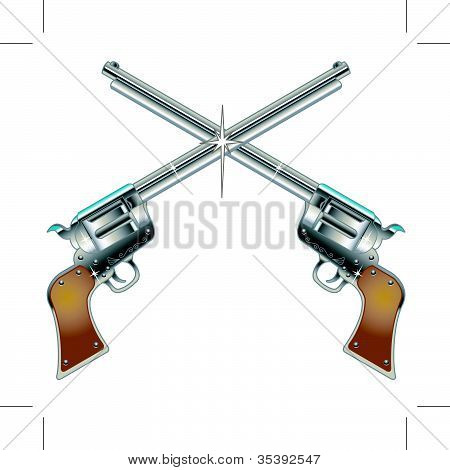 Six Shooter Pistols