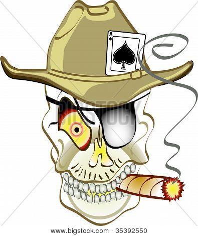 Skull Or Jolly Roger Cowboy