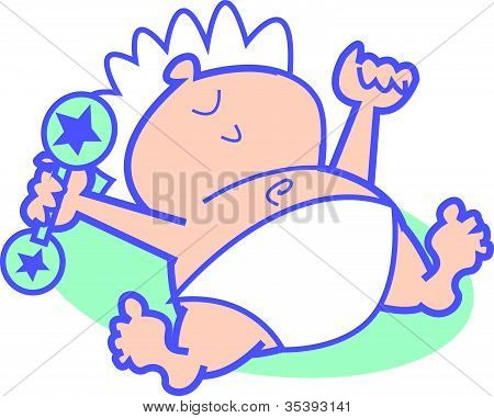 Baby Rattle Pictures Clip Art Baby With Rattle Cartoon Clip