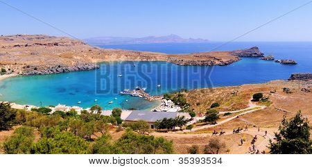 Lindos view, Greece