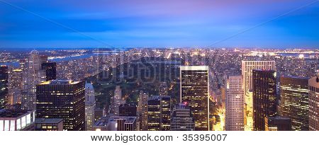 Manhattan skyline and Central Park