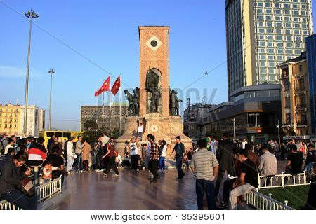 Republic Monument at Taksim Square