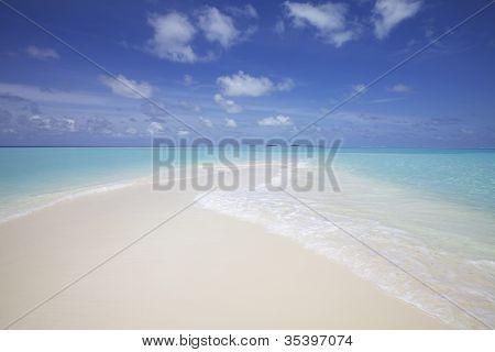 Sand Beach Ocean Maldives