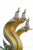 King Of Naga At Muang Temple Aungthong Thailand