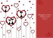 Постер, плакат: Влюблённые Чёрные кошки в сердце