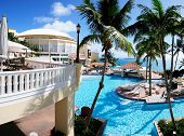 picture of conquistadors  - Tropical ambiance Palm trees and world class pool is all part of the El Conquistador in Puerto Rico - JPG