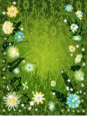 Vector Design Element Sunny Daisy Day poster
