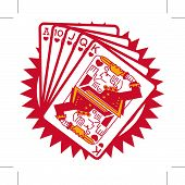 stock photo of joker  - Poker hand of Ace - JPG