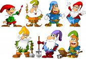 image of dwarf  - collection of dwarfs of different ages and occupations  - JPG