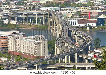 Rush Hour Traffic Portland Or.