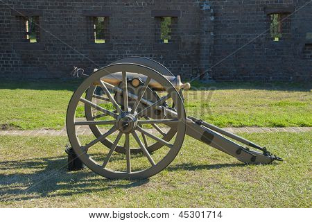 Brass Civil War Howitzer