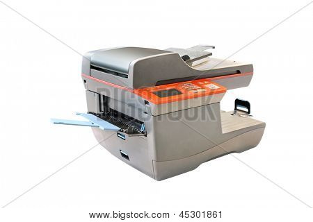 copying machine under thew white background