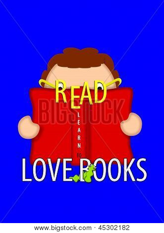 Book Lovers Learn To Read Blue