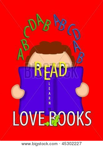Read And Love Books Red