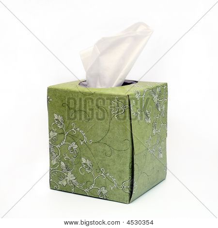 Isolated Green Tissue Box