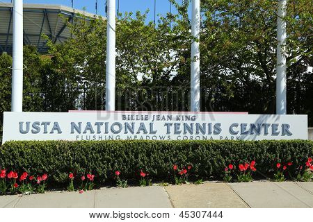 Billie Jean King National Tennis Center entrance in Flushing, NY