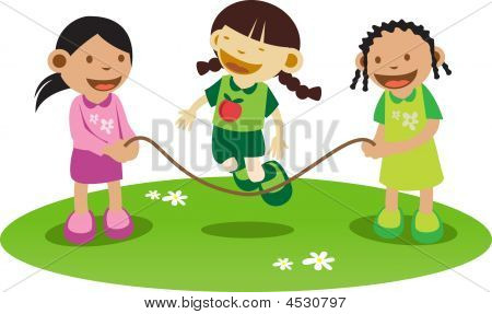 Litle Girls Playing