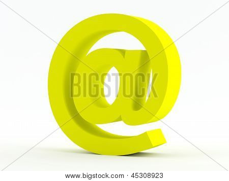 Yellow @ E-mail Sign