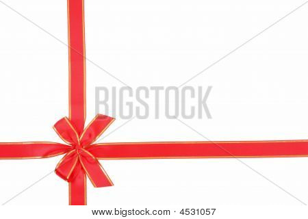 Red Ribbon In Bow